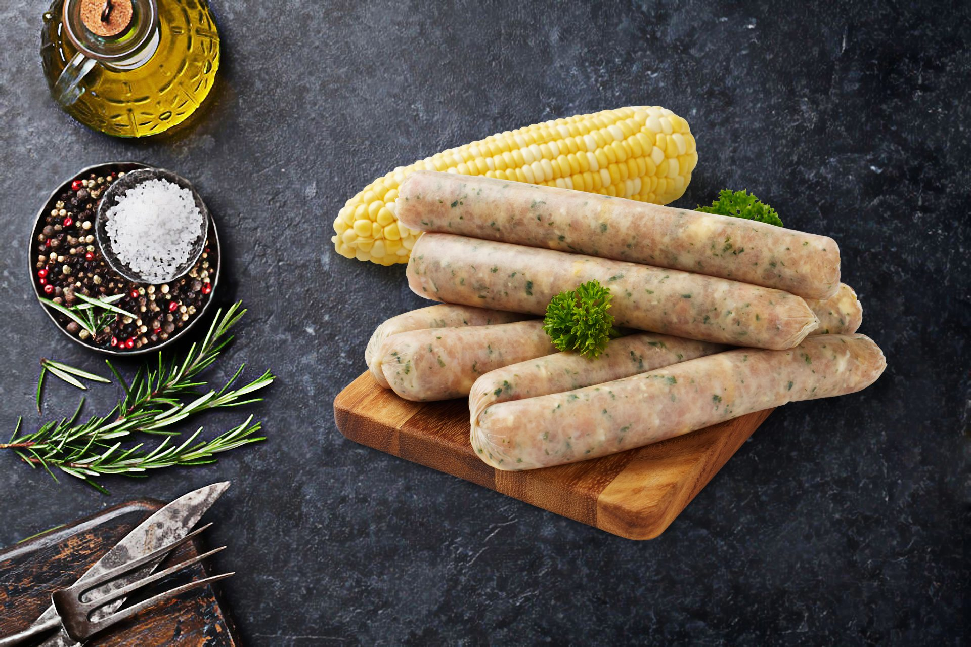 Chicken and Corn Sausages