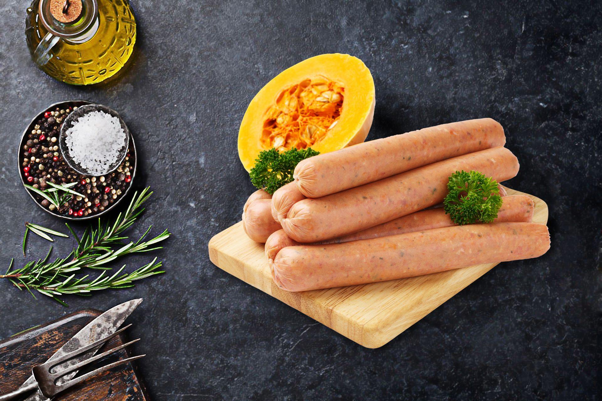 Lamb, Pumpkin & Fetta Sausages